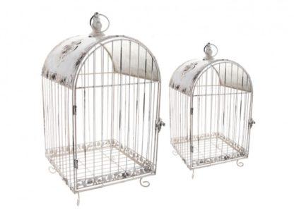 Набор клеток для птиц декоративных из 2 шт.l:28*28*62,m:23*23*45 см