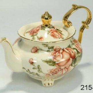 """Заварочный чайник на ножке с золотыми ручками """"Роза"""""""