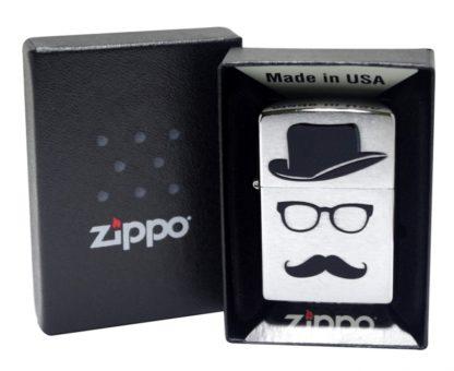 Зажигалка Zippo Moustache & Hat