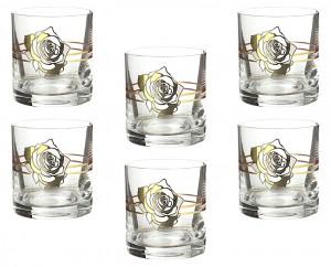 """Набор стаканов для виски """"Царица цветов"""""""