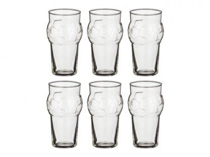 Набор бокалов для пива из 6 шт. «Football»