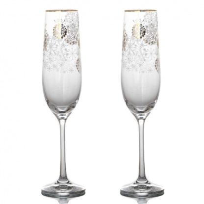 """Набор бокалов для шампанского 2 шт. """"Золотые шары"""""""