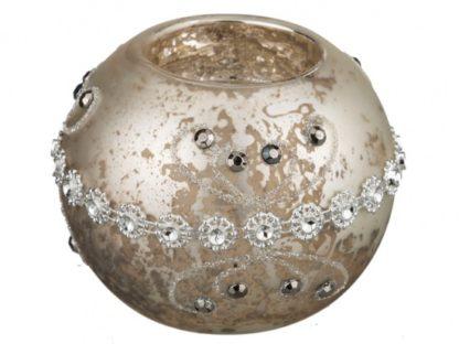 Подсвечник цвет:серебро антик