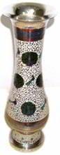 Ваза-стакан для цветов Дармиани, белая эмаль (BE-1000895)