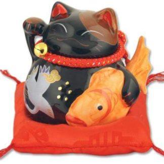 """Японский кот-копилка Манэки-нэко """"Здоровье и счастье"""""""