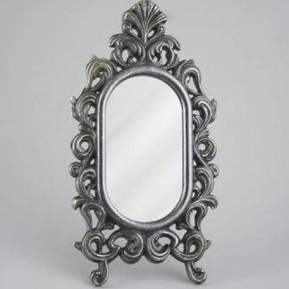 """Зеркало настольное """"Овальное"""" ,под бронзу"""