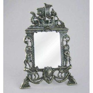 """Зеркало настольное """"Ангелы"""",под бронзу"""