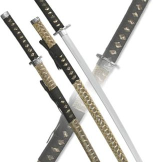 Набор самурайских мечей,2 шт. Ножны синие с желтым