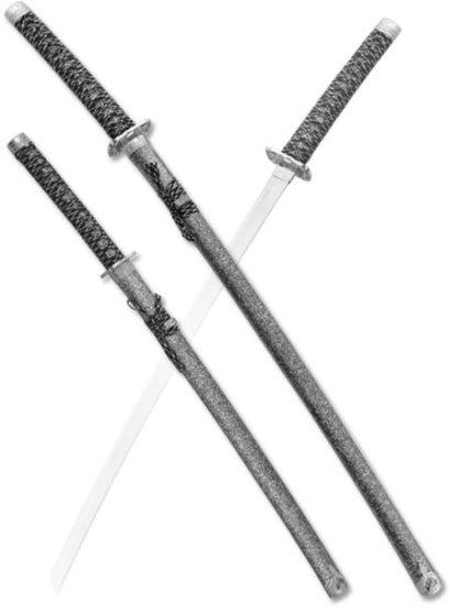 Набор самурайских мечей,2 шт. Ножны серый мрамор