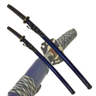 Набор самурайских мечей,2 шт. Темно-синие ножны